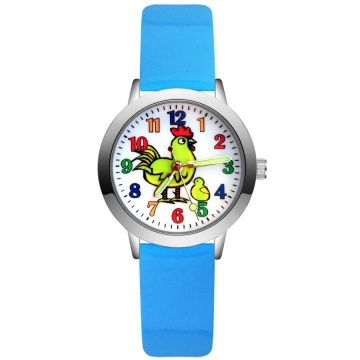 Kip horloge glow in the dark