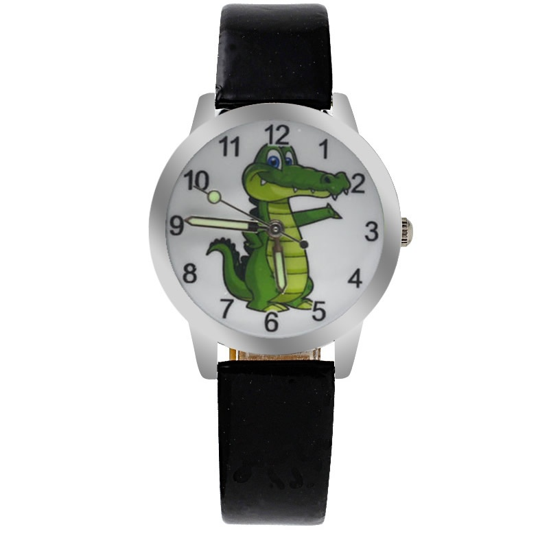 Krokodil horloge glow in the dark