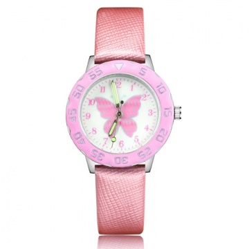 Vlinder horloge glow in the dark - deluxe