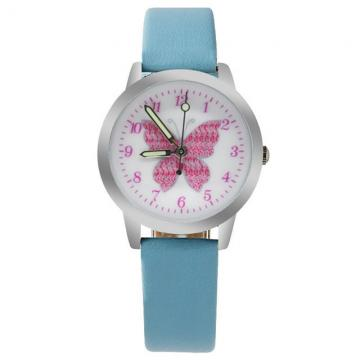 Vlinder horloge glow in the dark