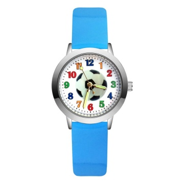 Voetbal horloge glow in the dark