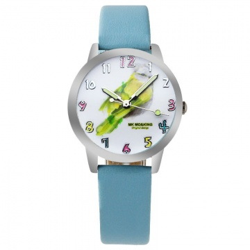 Vogel horloge glow in the dark