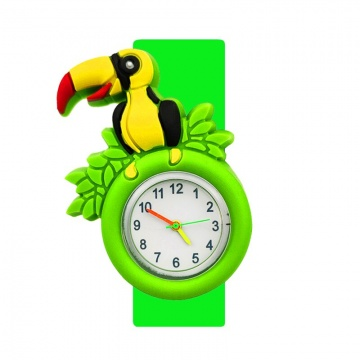 Vogel horloge slap on